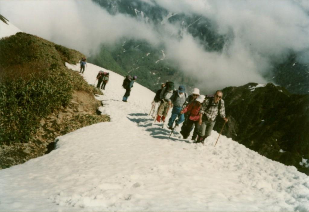 1995年 新潟県・越後駒ヶ岳登山にて